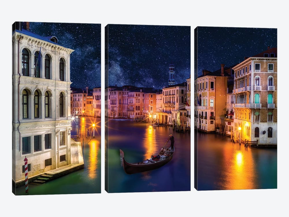 View of Grand Canal  by Susanne Kremer 3-piece Canvas Art