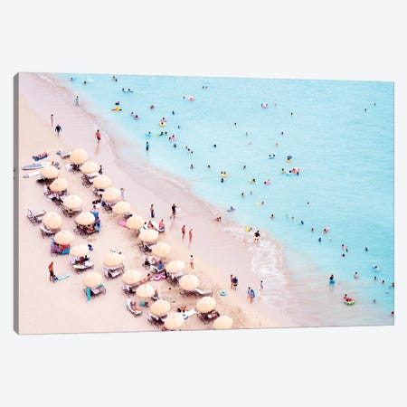 Waikiki Beach  Canvas Print #SKR264} by Susanne Kremer Canvas Wall Art