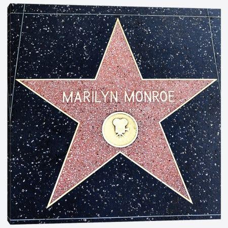 Walk of Fame, Marilyn Monroe Star  Canvas Print #SKR265} by Susanne Kremer Canvas Wall Art