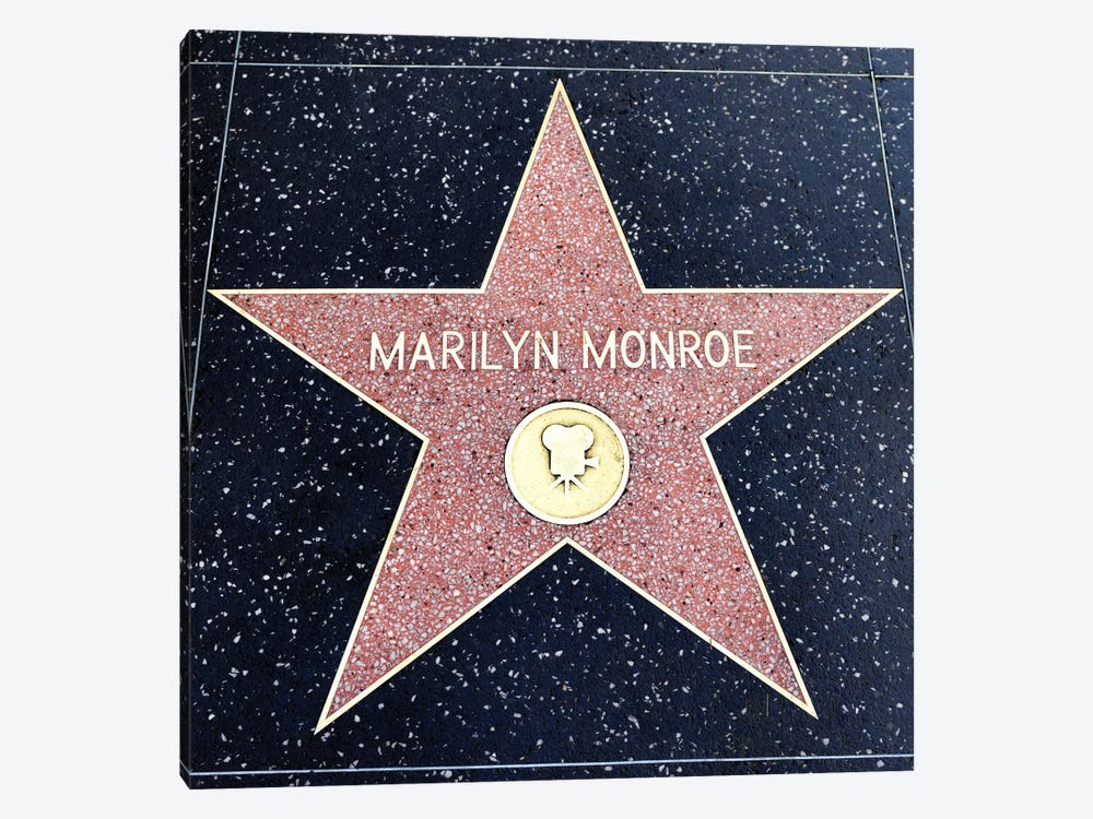 Walk of Fame, Marilyn Monroe Star  by Susanne Kremer 1-piece Canvas Art Print
