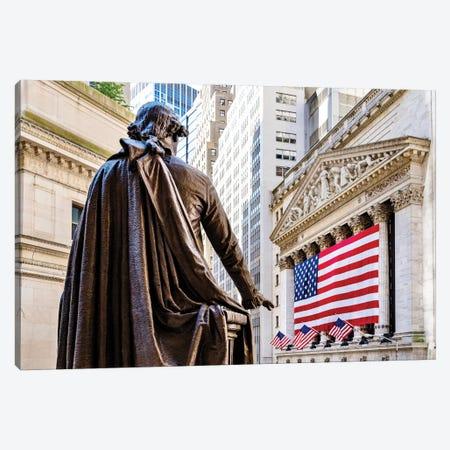 Wall Street New York Stock Exchange  Canvas Print #SKR266} by Susanne Kremer Canvas Art