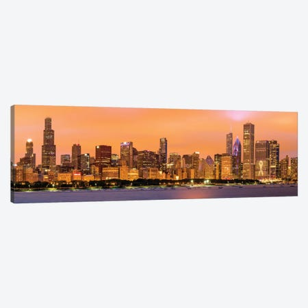 Wiilis Tower At Adler Planetarium I Canvas Print #SKR267} by Susanne Kremer Canvas Artwork