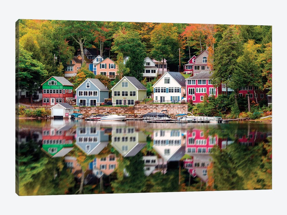 Wooden Homes Near Lake Winniepesaukee,New Hampshire New England by Susanne Kremer 1-piece Canvas Art
