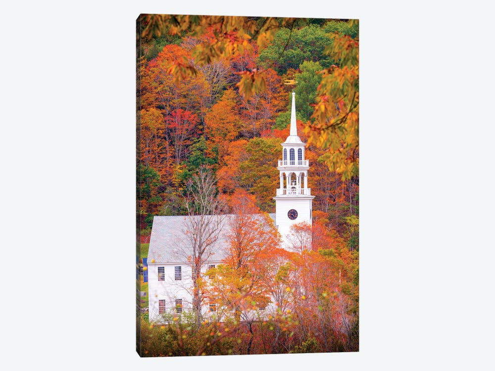 Church With Fall Foliage In Vermont New England by Susanne Kremer 1-piece Art Print