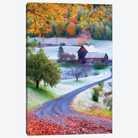 Picturesque Farm In Woodstock Vermont New England Canvas Print #SKR275} by Susanne Kremer Art Print
