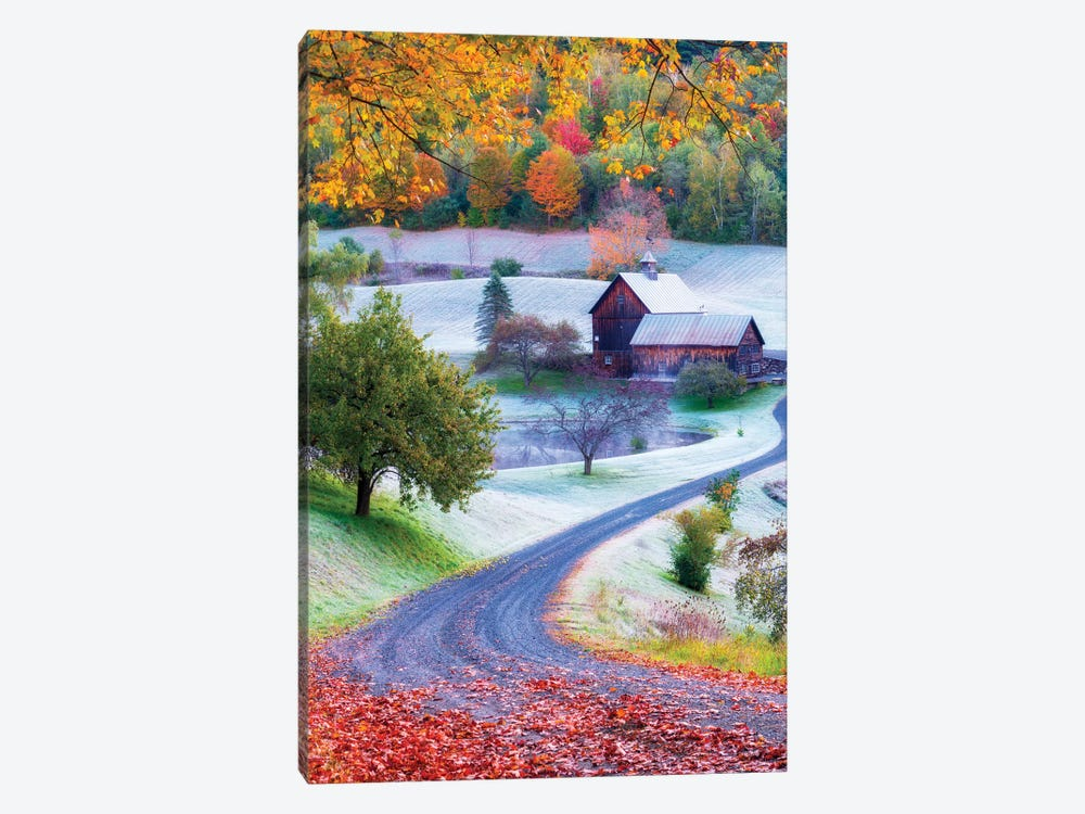 Picturesque Farm In Woodstock Vermont New England by Susanne Kremer 1-piece Canvas Art