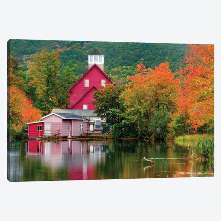 Old Mill Near Winniepesaukee Lake,New Hampshire New England Canvas Print #SKR276} by Susanne Kremer Canvas Art Print