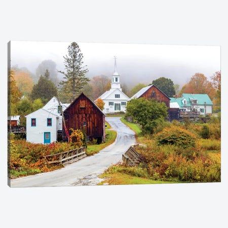 Waits River White Church,Vermont New England Canvas Print #SKR278} by Susanne Kremer Canvas Wall Art