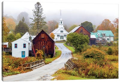 Waits River White Church,Vermont New England Canvas Art Print
