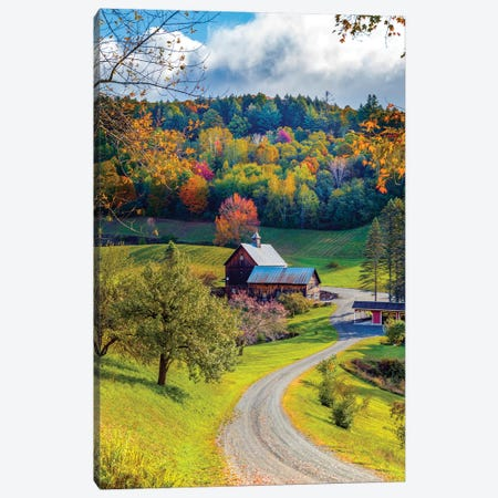 Farm In Woodstock Vermont New England In Autumn Canvas Print #SKR279} by Susanne Kremer Canvas Art