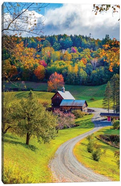 Farm In Woodstock Vermont New England In Autumn Canvas Art Print