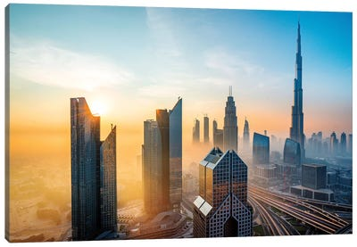 Burj Khalifa, Tallest Building In The World Canvas Art Print