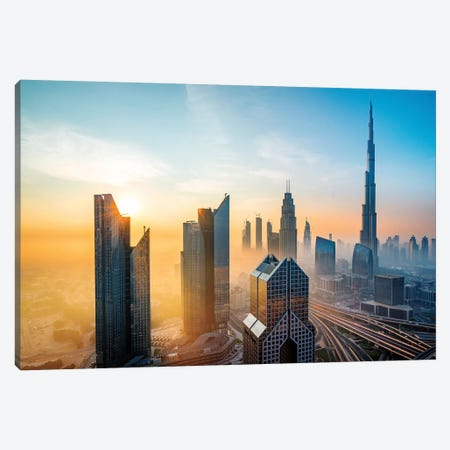 Burj Khalifa, Tallest Building In The World Canvas Print #SKR27} by Susanne Kremer Canvas Print