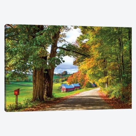 Farm In Vermont New England In Autumn Canvas Print #SKR280} by Susanne Kremer Canvas Art Print