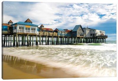 Orchard Beach Pier,Maine New England Canvas Art Print
