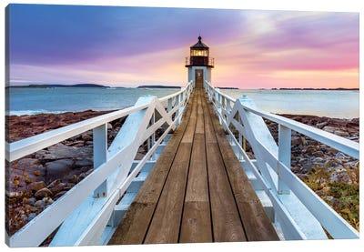 Marshall Pointe Lighthouse Sunset, Port Clyde,Maine Canvas Art Print