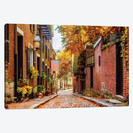Boston In Autumn Canvas Print #SKR292} by Susanne Kremer Canvas Art