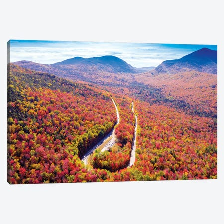 Kancamangus Highway New Hampshire Aerial View Canvas Print #SKR293} by Susanne Kremer Canvas Art