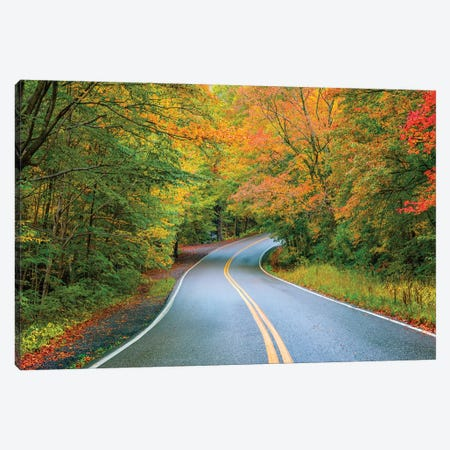 Smugglers Notch In Autumn,Vermont Canvas Print #SKR299} by Susanne Kremer Canvas Artwork