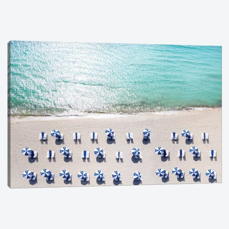 Aerial South Beach I Canvas Print #SKR2} by Susanne Kremer Canvas Art