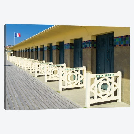 Elegant Boardwalk At The Beach In Deauville Normandy France Canvas Print #SKR306} by Susanne Kremer Canvas Print