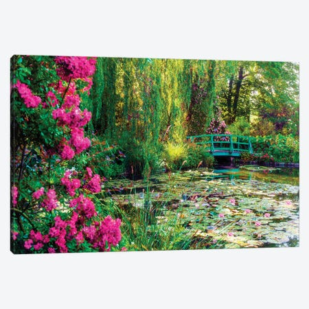 Monets Garden With Flowers In Giverny France Canvas Print #SKR324} by Susanne Kremer Art Print