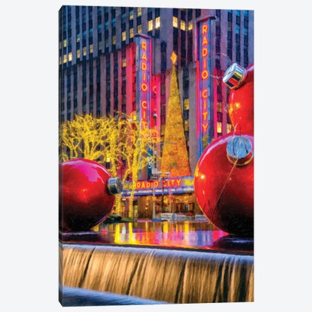 Christmas Decoration In New York City Canvas Print #SKR330} by Susanne Kremer Canvas Print