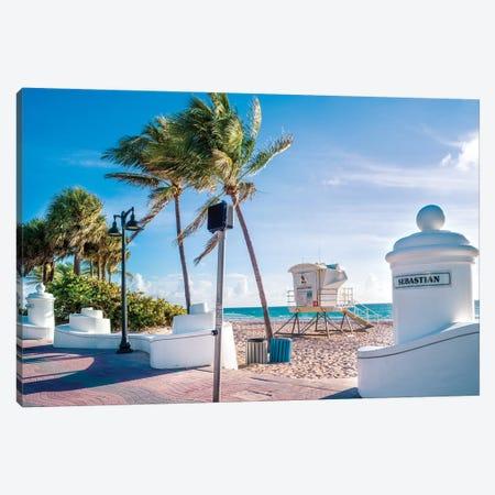 Fort Lauderdale Beach Morning Canvas Print #SKR338} by Susanne Kremer Canvas Art Print