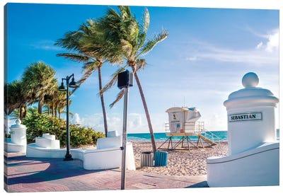 Fort Lauderdale Beach Morning Canvas Art Print