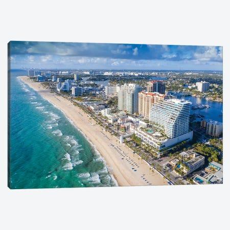 Aerial Fort Lauderdale Beach Canvas Print #SKR339} by Susanne Kremer Canvas Print