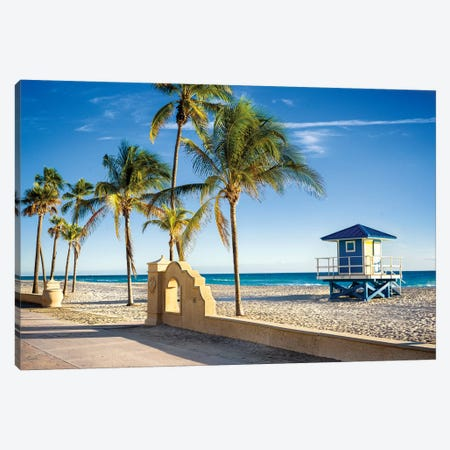 Beach Promenade Florida Canvas Print #SKR341} by Susanne Kremer Canvas Art