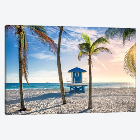 Beach Dreams Hollywood Florida Canvas Print #SKR342} by Susanne Kremer Canvas Art
