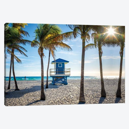 Sunshine State Of Mind Florida Canvas Print #SKR343} by Susanne Kremer Canvas Artwork