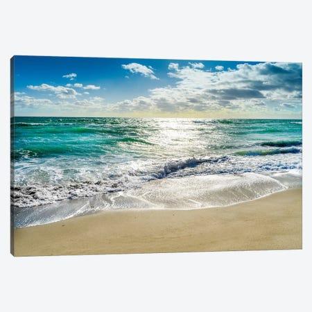 Silent Beach Waves Hollywood Florida Canvas Print #SKR344} by Susanne Kremer Canvas Print