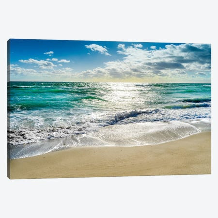Silent Beach Waves Hollywood Florida Canvas Print #SKR344} by Susanne Kremer Canvas Print