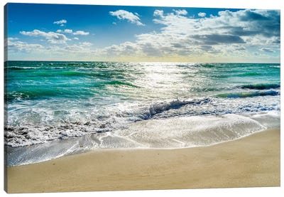 Silent Beach Waves Hollywood Florida Canvas Art Print