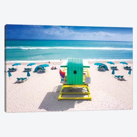 Ocean Side, Miami Beach Florida Canvas Print #SKR348} by Susanne Kremer Canvas Artwork