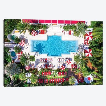 Aerial View Go For A Swim , Miami Beach Pool With Palm Trees ,Florida Canvas Print #SKR349} by Susanne Kremer Canvas Art