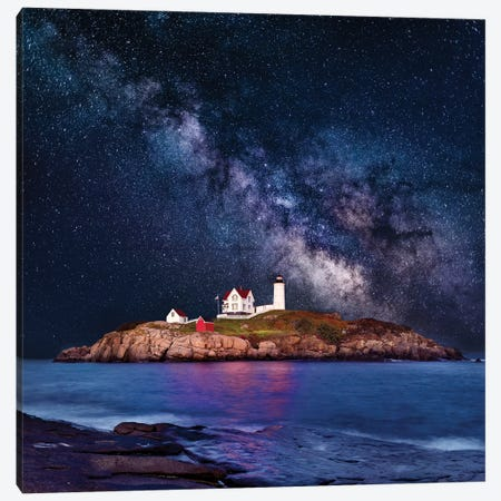 Cape Neddick, Nubble Lighthouse  Canvas Print #SKR34} by Susanne Kremer Canvas Art