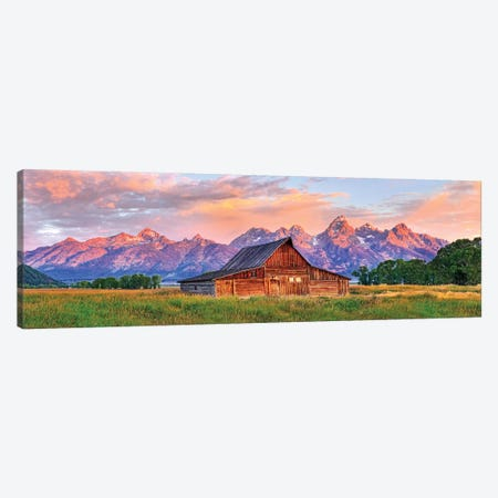 Grand Teton Morning Glow,Grand Teton National Park, Wyoming Canvas Print #SKR351} by Susanne Kremer Canvas Print