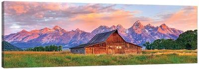Grand Teton Morning Glow,Grand Teton National Park, Wyoming Canvas Art Print