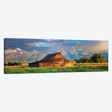 Grand Teton Panorama, Grand Teton National Park, Wyoming Canvas Print #SKR352} by Susanne Kremer Canvas Print