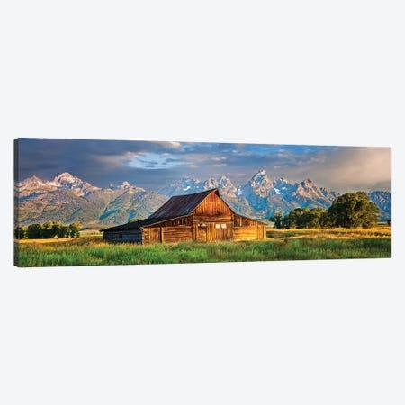 Grand Teton Panorama, Grand Teton National Park, Wyoming Canvas Print #SKR352} by Susanne Kremer Canvas Print
