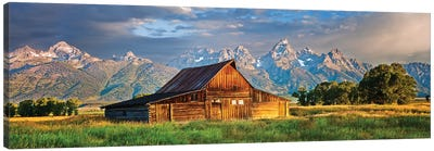 Grand Teton Panorama, Grand Teton National Park, Wyoming Canvas Art Print