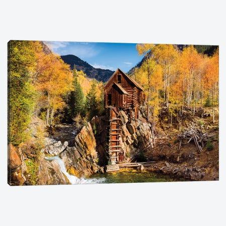 Old Mill In Autumn,Colorado Canvas Print #SKR353} by Susanne Kremer Art Print