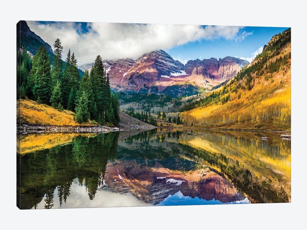 Maroon Bells, Colorado by Susanne Kremer 1-piece Canvas Art Print