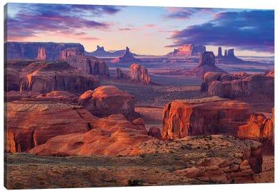 Hunts Mesa Monument Valley Sunset Canvas Art Print