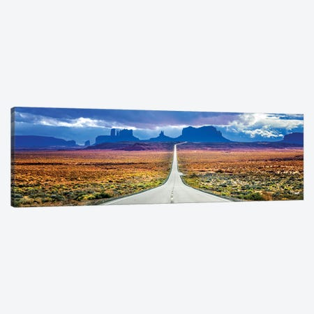 Stormy Road To Monument Valley Canvas Print #SKR359} by Susanne Kremer Canvas Print