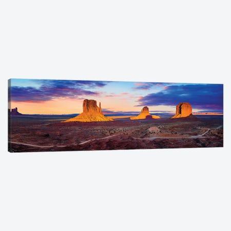 Sunset Monument Valley Canvas Print #SKR360} by Susanne Kremer Canvas Wall Art
