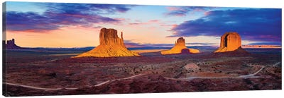 Sunset Monument Valley Canvas Art Print